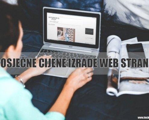 izrade web stranice cijene